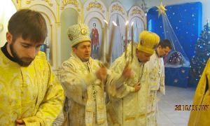 Christmas  in Kyiv, Ukraine, in theTemple of Transfiguration of the Lord