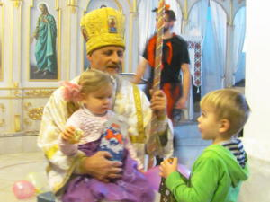 The celebration of the Saint Nicholas Day  in the community the temple of the Transfiguration