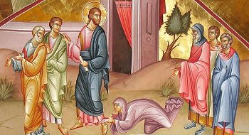 About the healing of a woman with discharge of blood, about resurrection of Jairus's daughter and about the saving faith