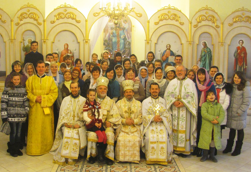 The community of the Orthodox church of the Lord's Transfiguration
