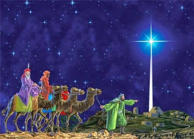 The bright star, which went up above Bethlehem, informed the wise men about the joyful event.